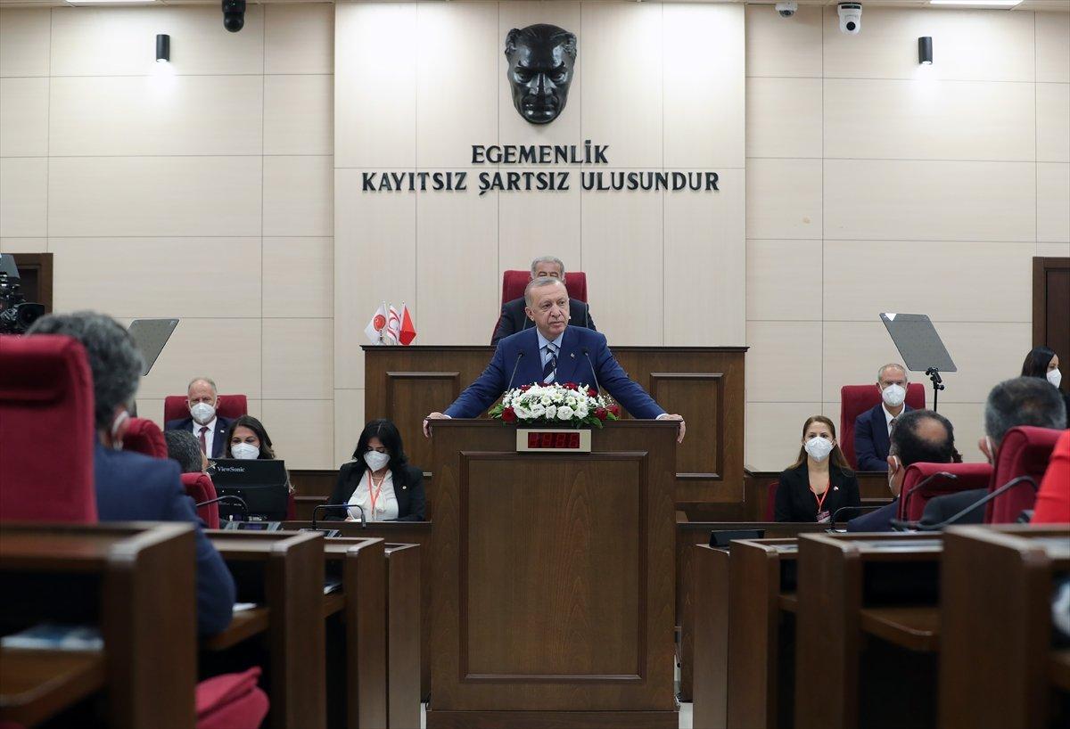 Cumhurbaşkanı Erdoğan ın KKTC Meclisi ndeki konuşması  #1