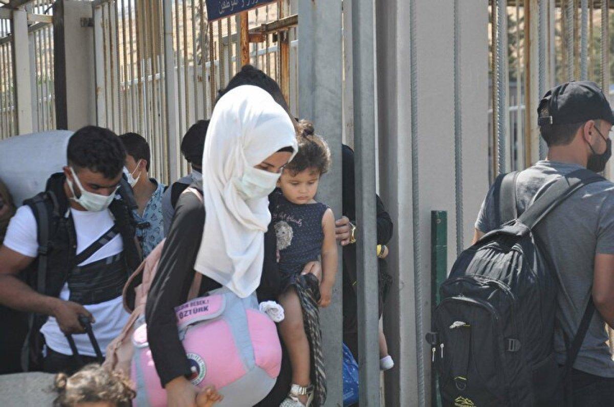 44 bin 220 Suriyeli bayram için ülkesine gitti  #1