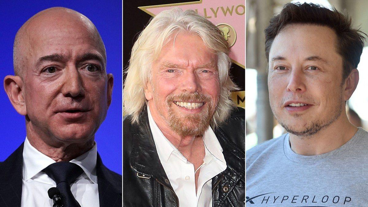 Milyarder iş insanlarının rekabeti uzaya taşındı