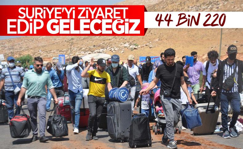 44 bin 220 Suriyeli bayram için ülkesine gitti
