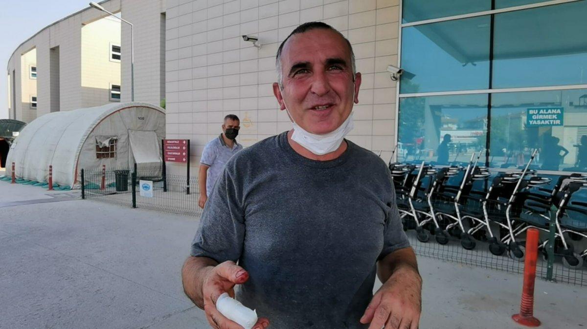 Acemi kasaplar, soluğu hastanede aldı #13