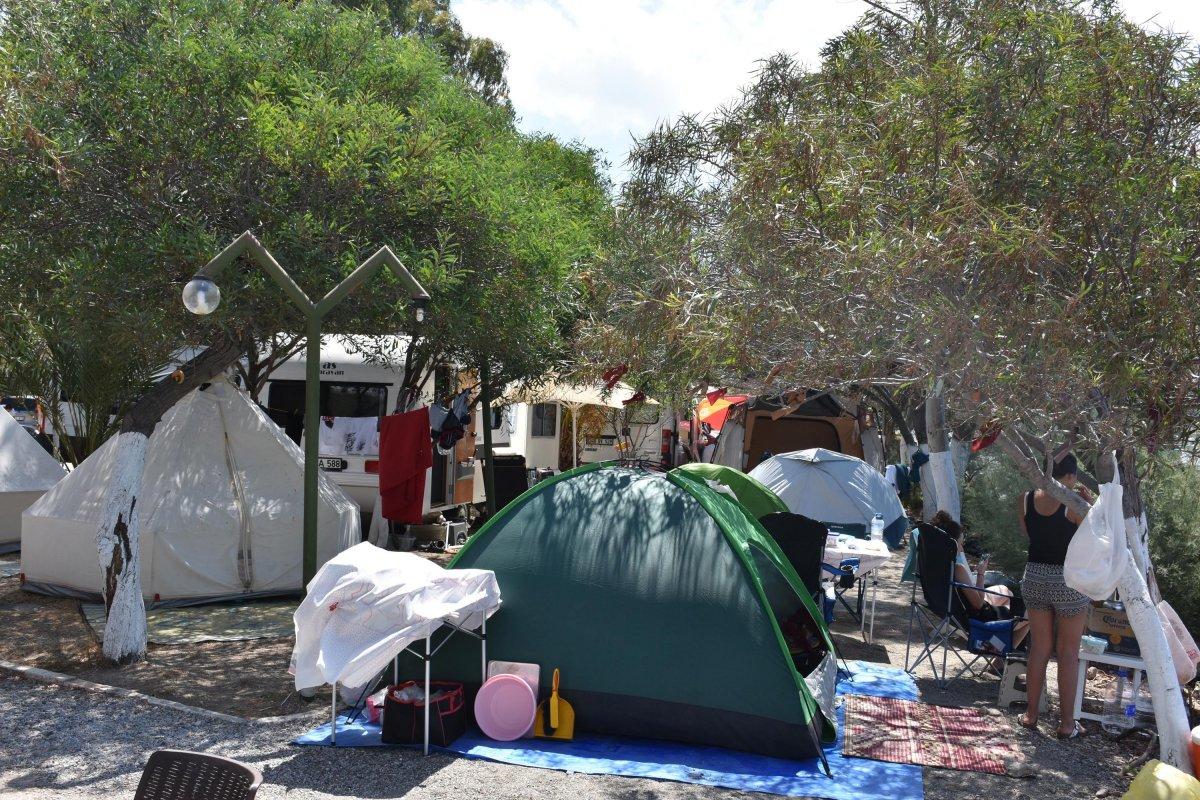 Doğayla iç içe tatil yapmak isteyenler kamp alanlarını doldurdu  #4