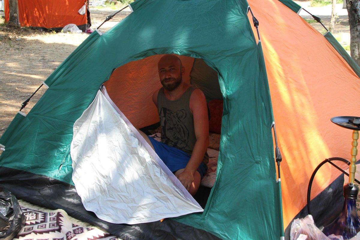 Doğayla iç içe tatil yapmak isteyenler kamp alanlarını doldurdu  #2