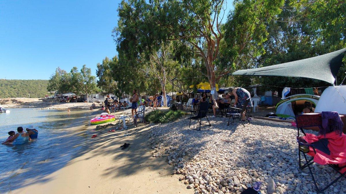 Doğayla iç içe tatil yapmak isteyenler kamp alanlarını doldurdu  #3
