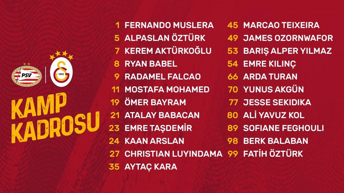 Galatasaray ın PSV maçı kadrosu belli oldu #1