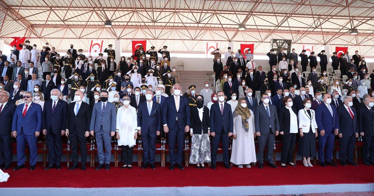 Cumhurbaşkanı Erdoğan, Kıbrıs ta düzenlenen törene katıldı #5