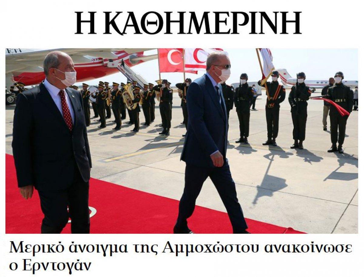 Maraş açılımı, Yunan basınını rahatsız etti #2