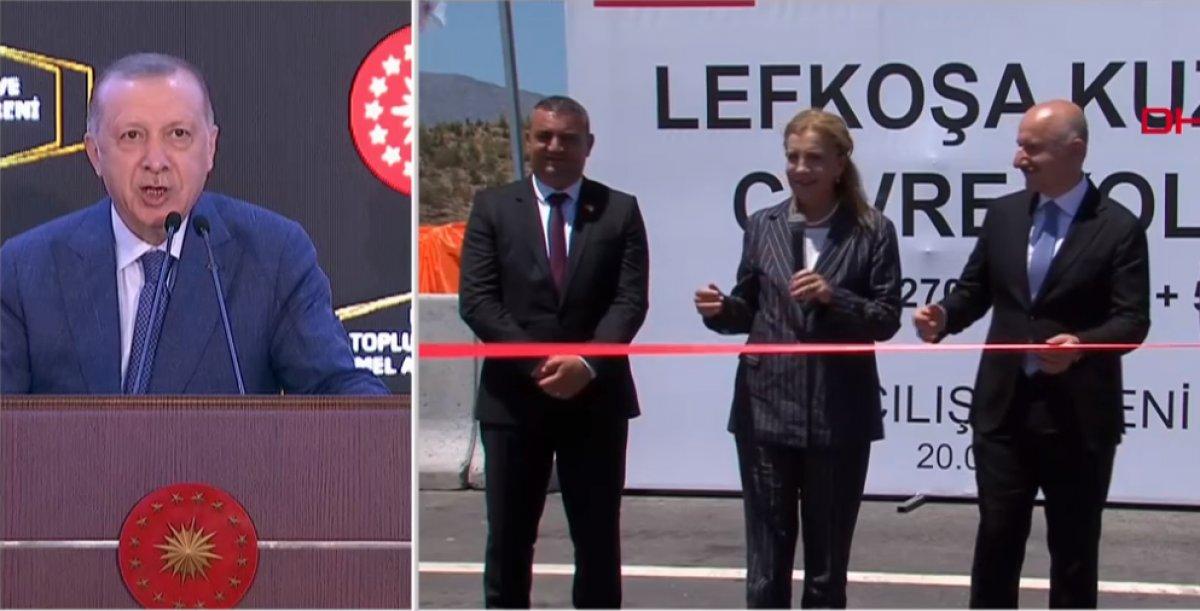 Cumhurbaşkanı Erdoğan, Lefkoşa da toplu açılış ve temel atma törenine katıldı #1