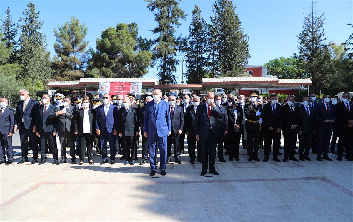 Cumhurbaşkanı Erdoğan, Kıbrıs ta düzenlenen törene katıldı #2