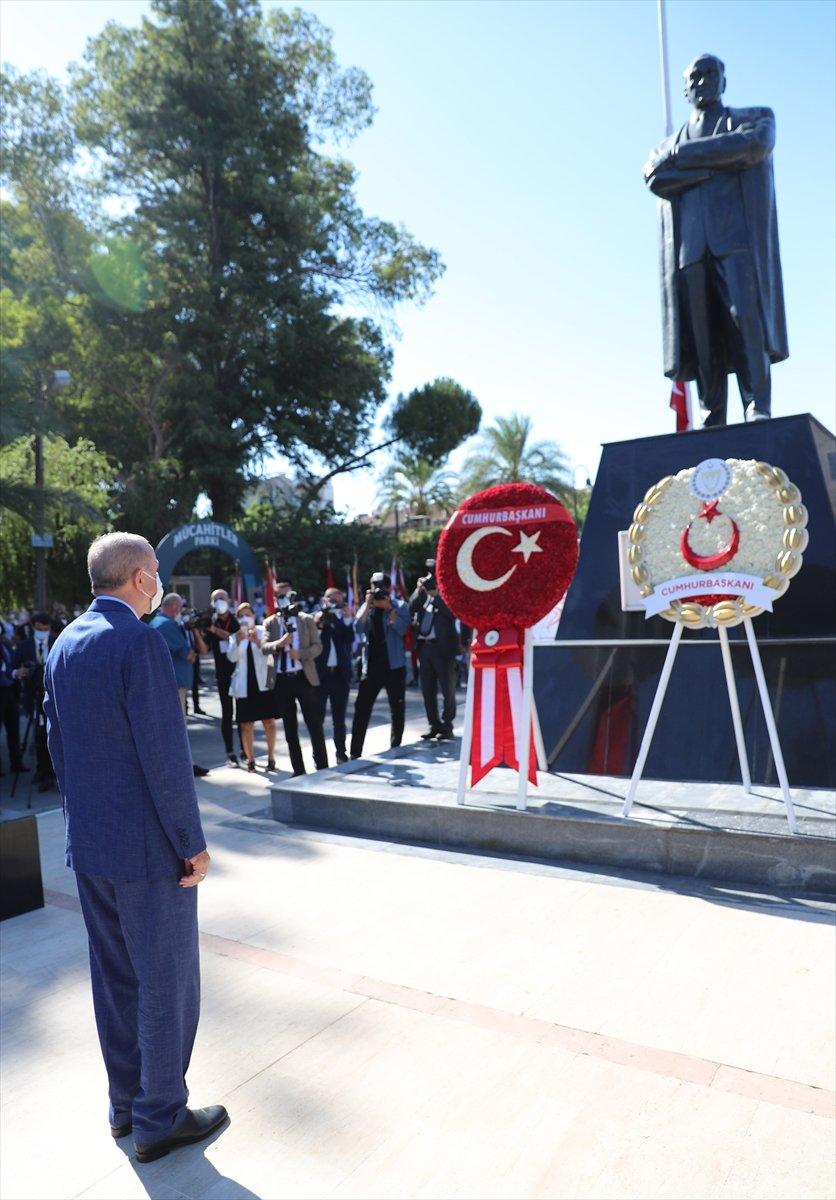 Cumhurbaşkanı Erdoğan, Kıbrıs ta düzenlenen törene katıldı #6