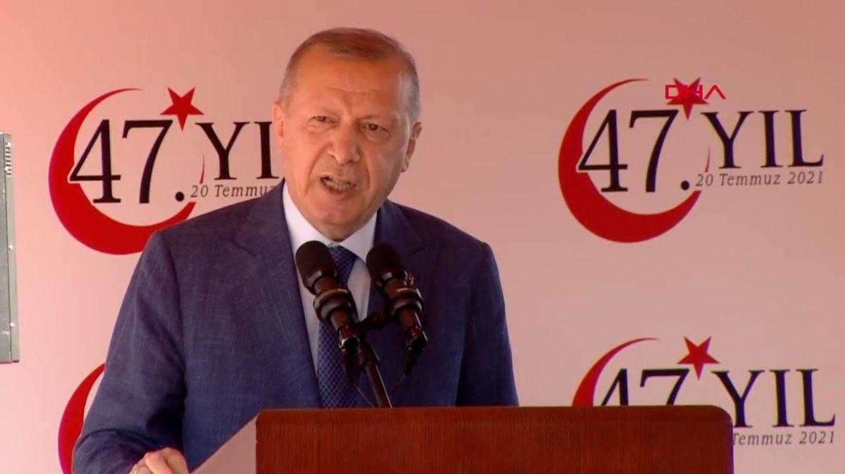 Cumhurbaşkanı Erdoğan dan AB ye KKTC yanıtı: Konuşmak için izni sizden alacak değiliz #1