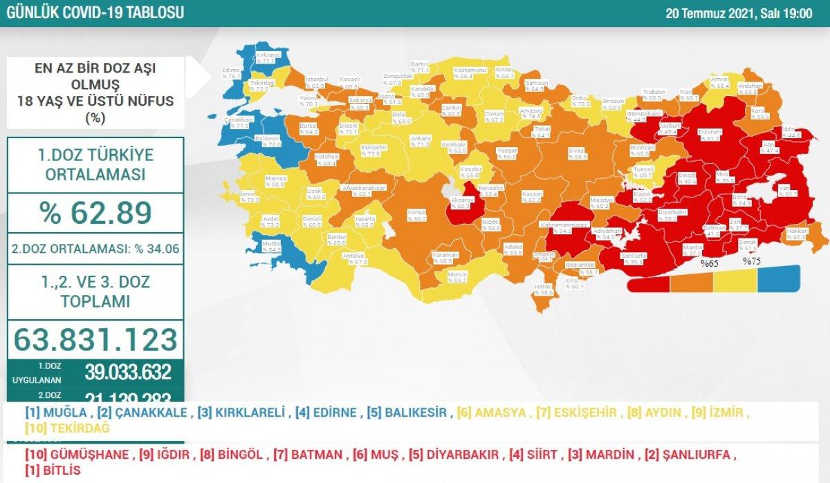20 Temmuz Türkiye de koronavirüs tablosu #1