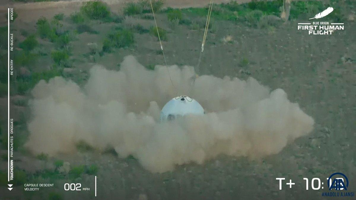 Jeff Bezos ve beraberindeki mürettebatı taşıyan araç uzaya fırlatıldı #6
