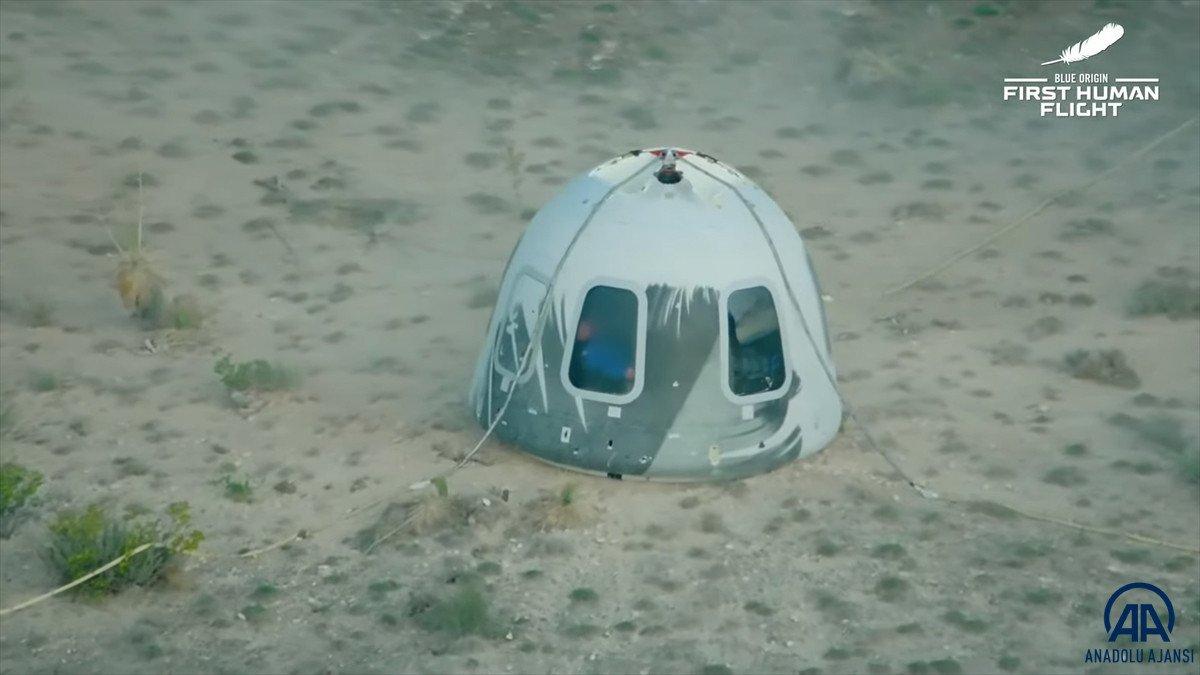 Jeff Bezos ve beraberindeki mürettebatı taşıyan araç uzaya fırlatıldı #7