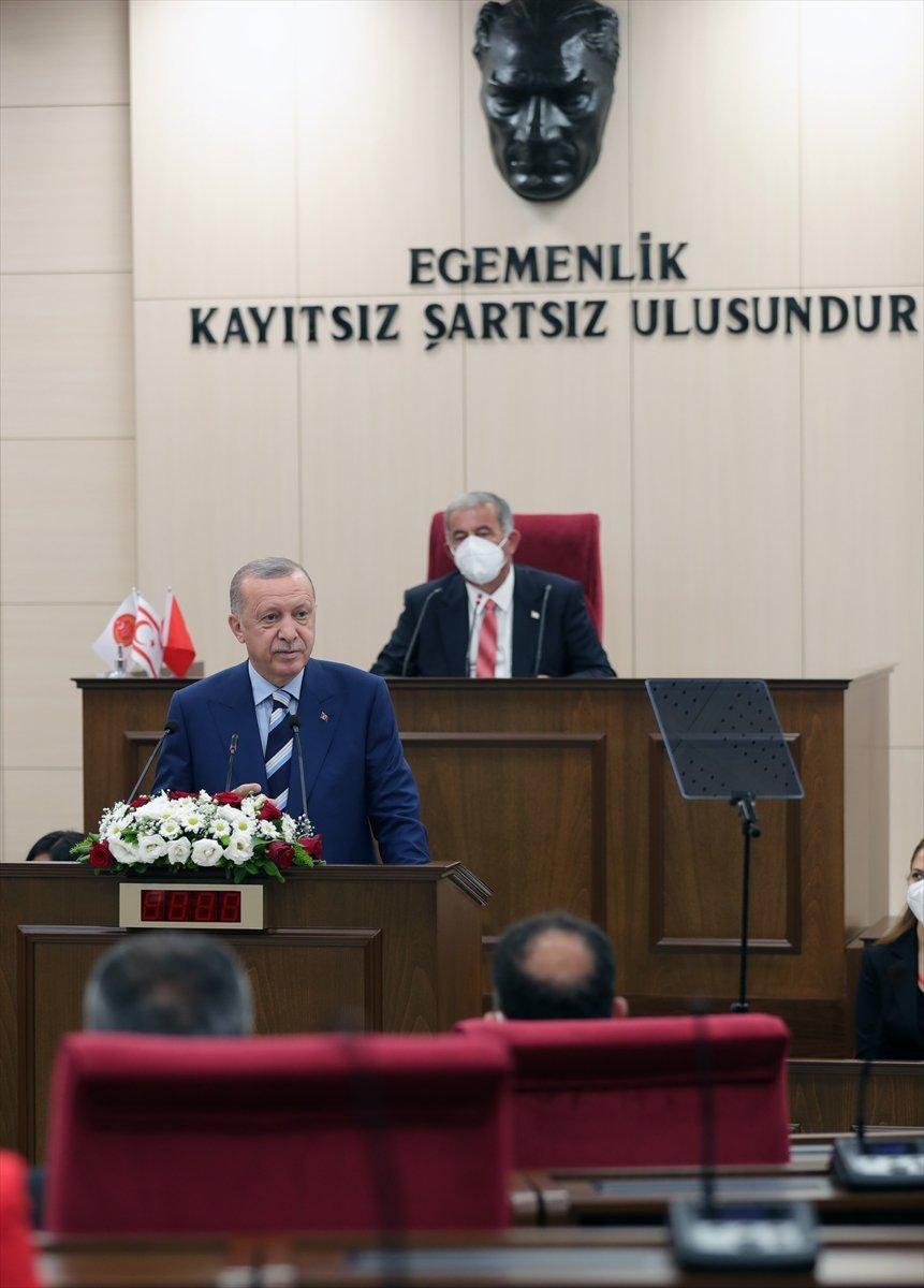 Cumhurbaşkanı Erdoğan, KKTC ziyareti sonunda basın açıklaması yaptı #4