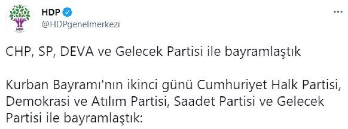HDP nin bayramlaştığı partiler #1