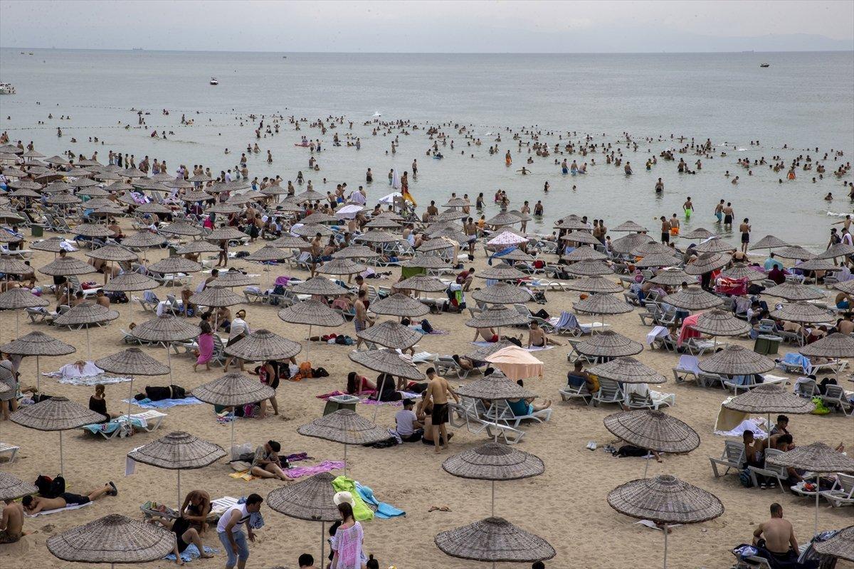 İstanbul da bayramın ikinci günü Güneş Plajı oldu #5