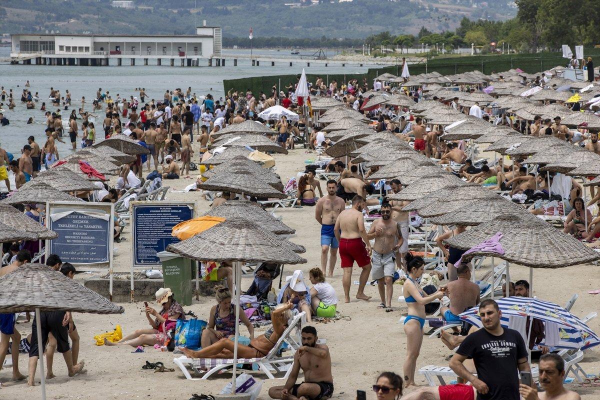 İstanbul da bayramın ikinci günü Güneş Plajı oldu #3