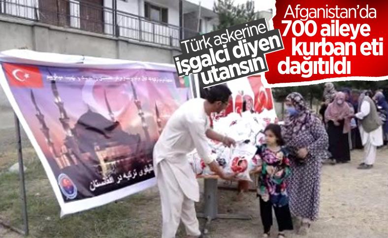 Mehmetçik, Afganistan'daki ihtiyaç sahibi 700 aileye kurban eti dağıttı