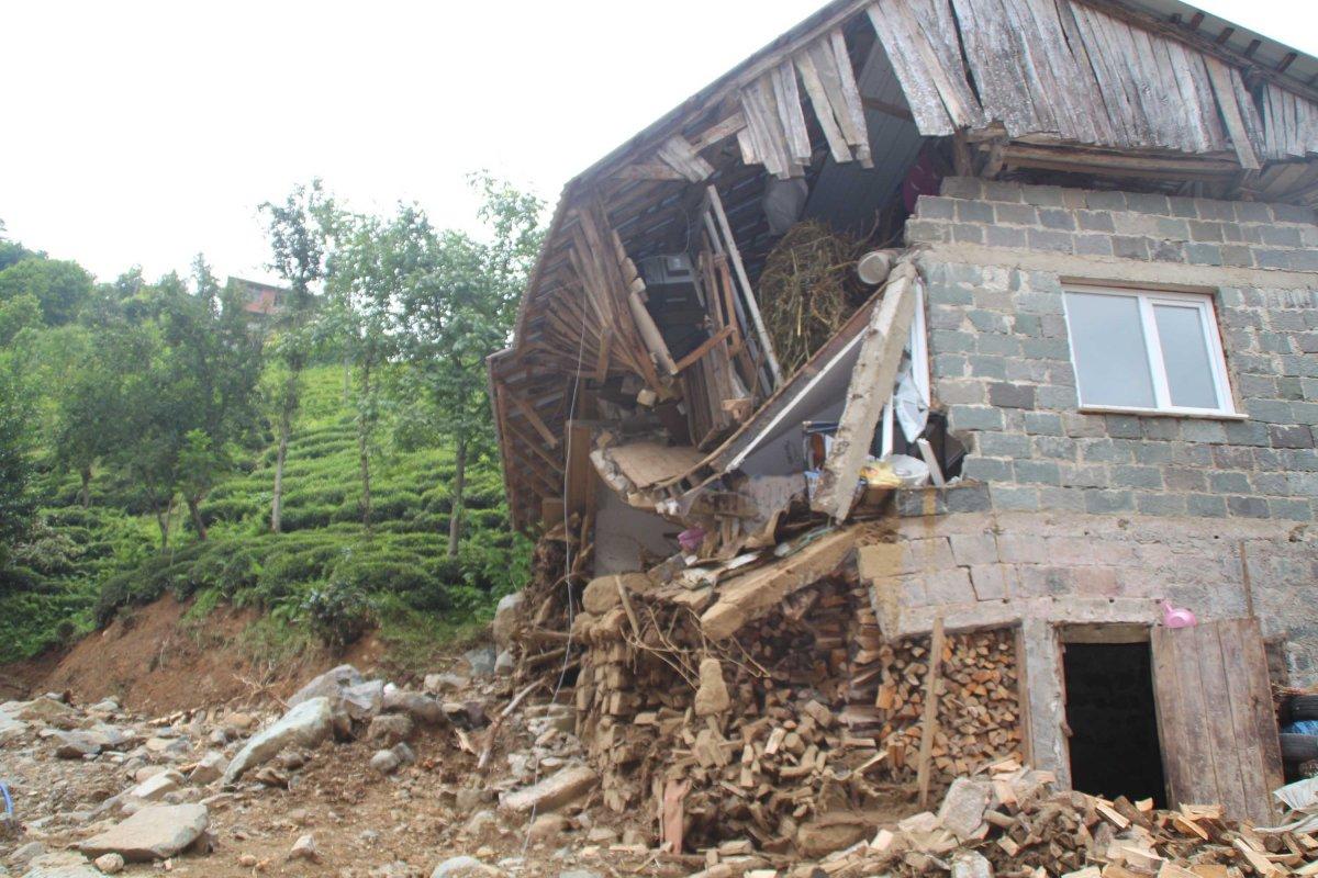 Rize de sel felaketinde 47 bina yıkıldı #1