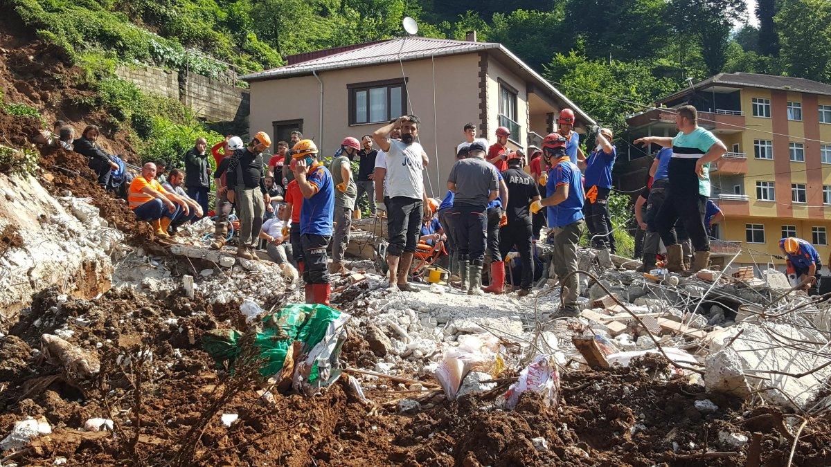 Rize de sel felaketinde 47 bina yıkıldı #2