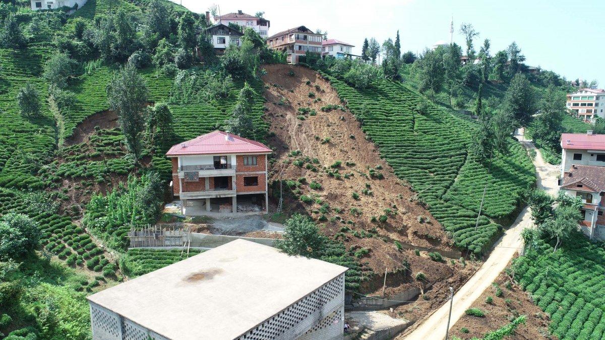 Rize de sel felaketinde 47 bina yıkıldı #3