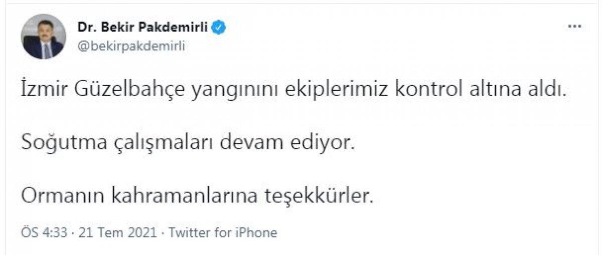 İzmir de ormanlık alanda yangın çıktı  #1