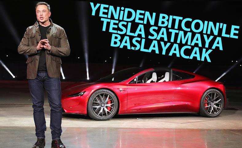 Elon Musk, yeniden Bitcoin ile Tesla satacak
