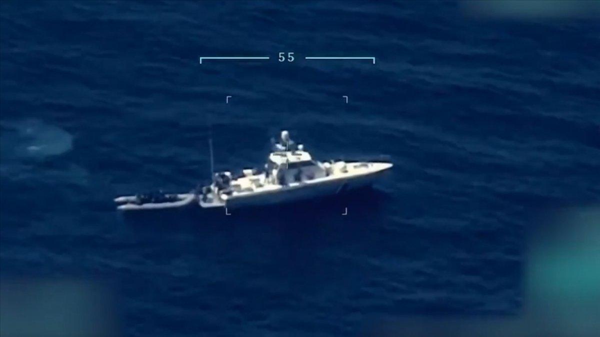 Ege Denizi nde Türk kara sularına geri itilen 15 düzensiz göçmen kurtarıldı #1