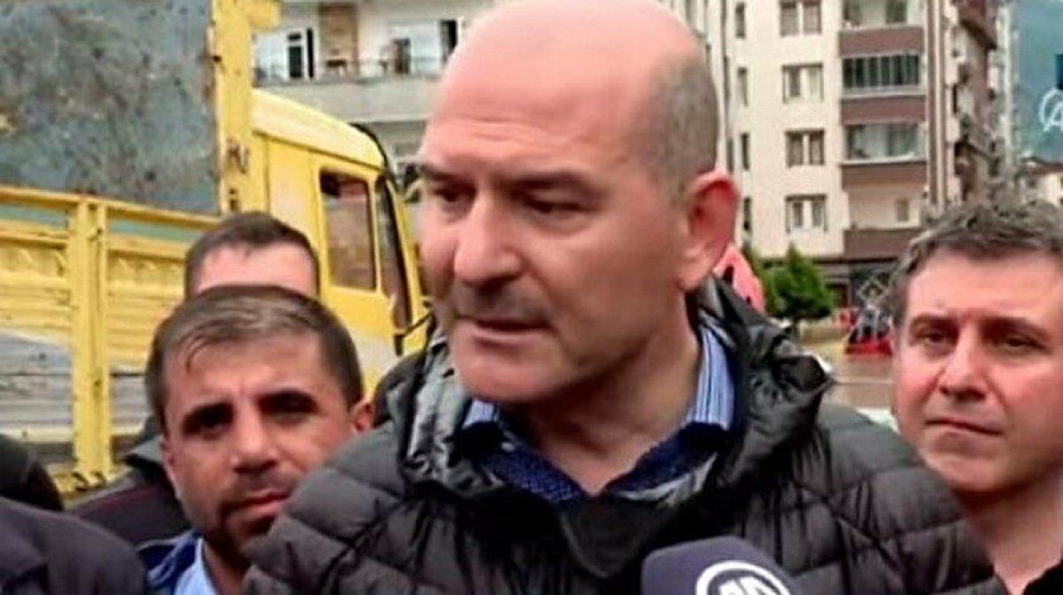 Süleyman Soylu dan Rize ve Artvin açıklaması: Baraj patladı iddiası doğru değil #2