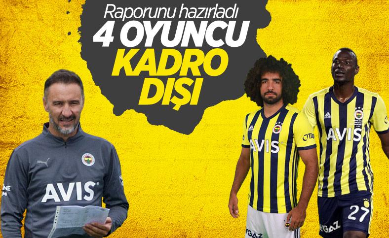 Fenerbahçe'de 4 futbolcu kadro dışı bırakıldı