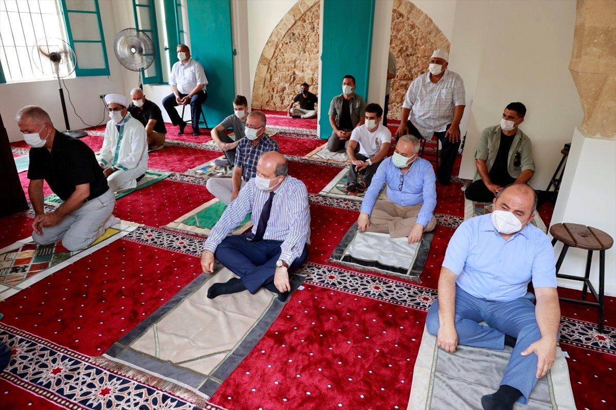 Kapalı Maraş taki Bilal Ağa Mescidi'nde 47 yıl sonra ilk cuma namazı #1