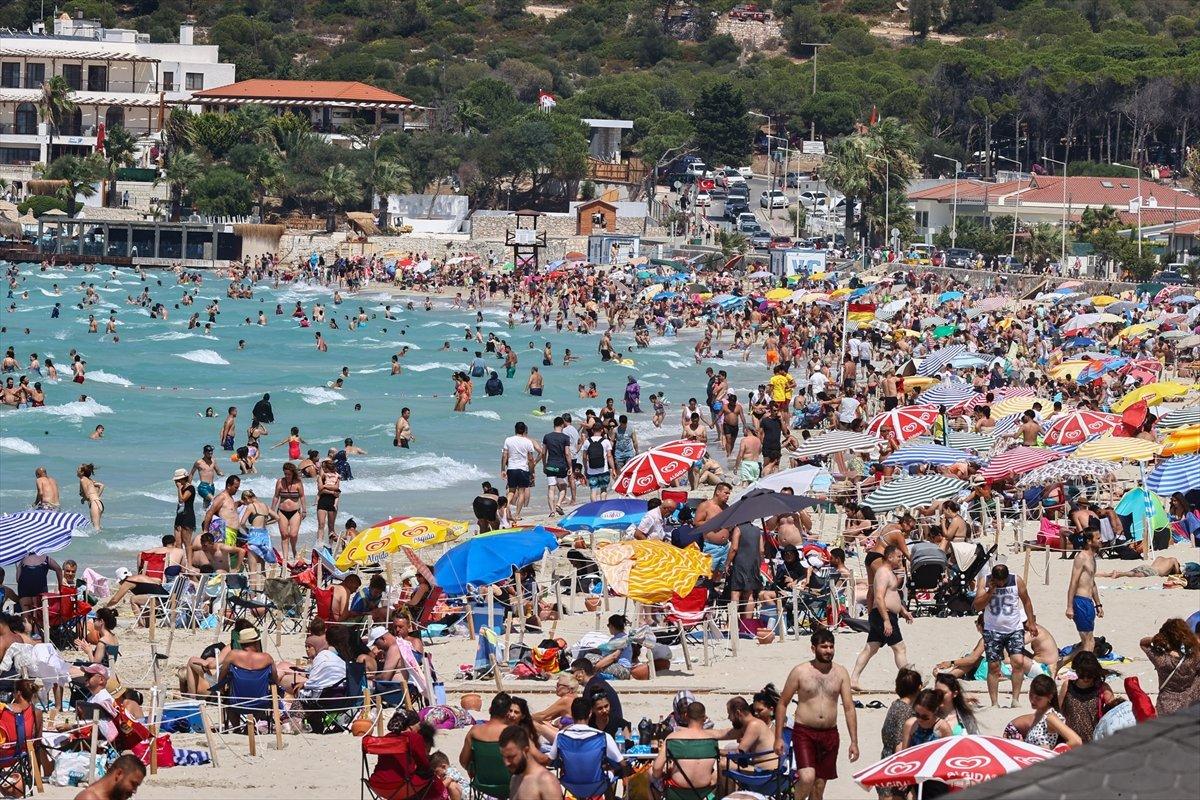 Ege Bölgesi nde plajlar doldu taştı  #9