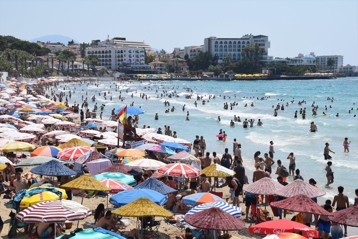 Ege Bölgesi nde plajlar doldu taştı  #8