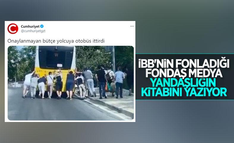 Cumhuriyet gazetesinin güldüren otobüs arızası haberi
