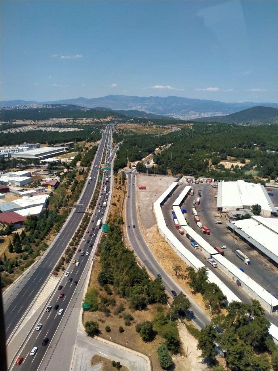 İzmir de trafiğe helikopterli denetim #5