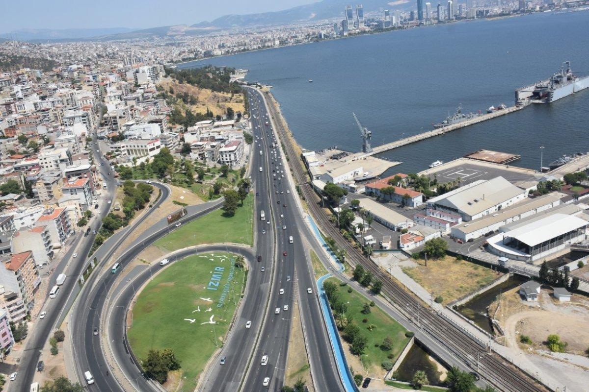 İzmir de trafiğe helikopterli denetim #3