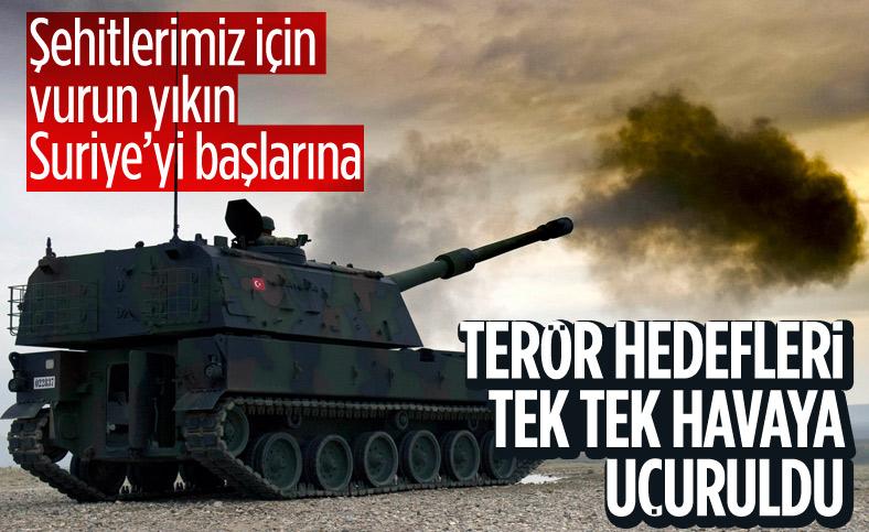 Suriye'de terör örgütü YPG'ye ait hedefler vuruldu