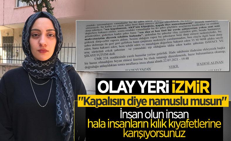 İzmir'de başörtülü kıza fiziki ve sözlü saldırı