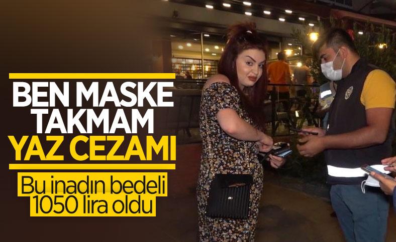 Kırıkkale'de maske takmamak için direnen kadına ceza