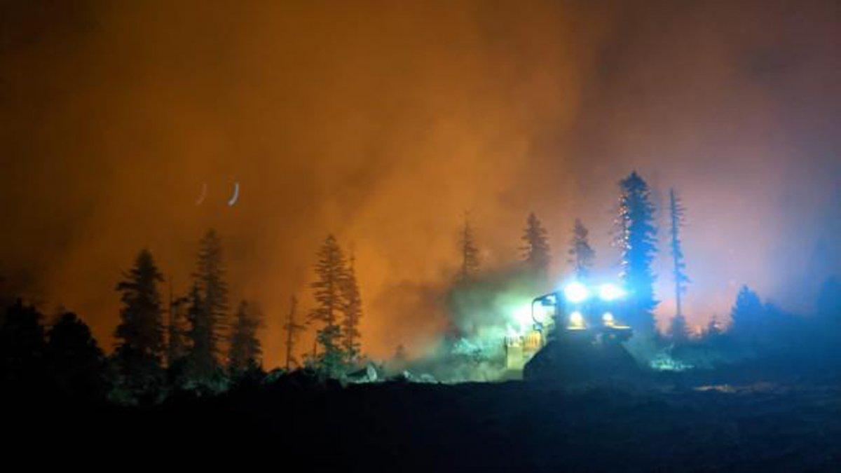 Kaliforniya da orman yangınıyla mücadele #2