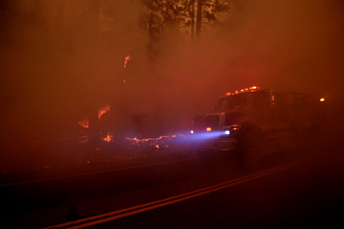 Kaliforniya da orman yangınıyla mücadele #8
