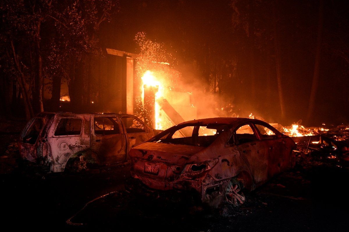 Kaliforniya da orman yangınıyla mücadele #7
