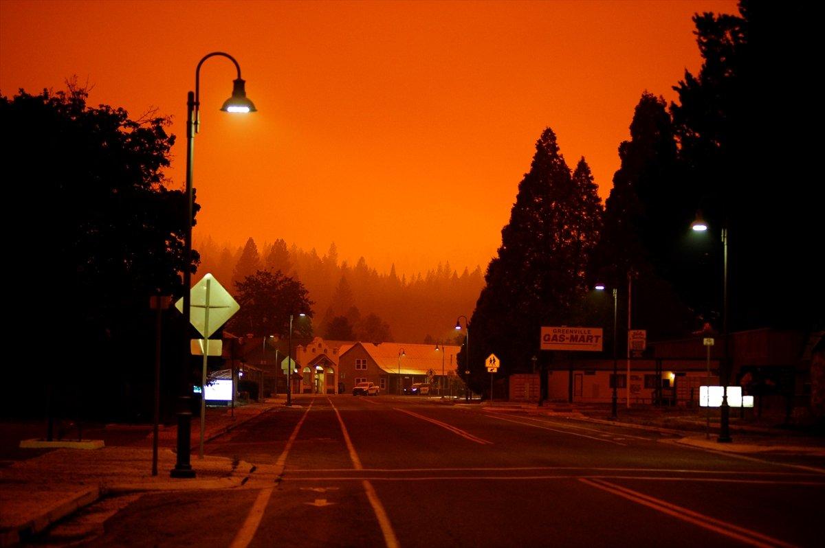Kaliforniya da orman yangınıyla mücadele #9