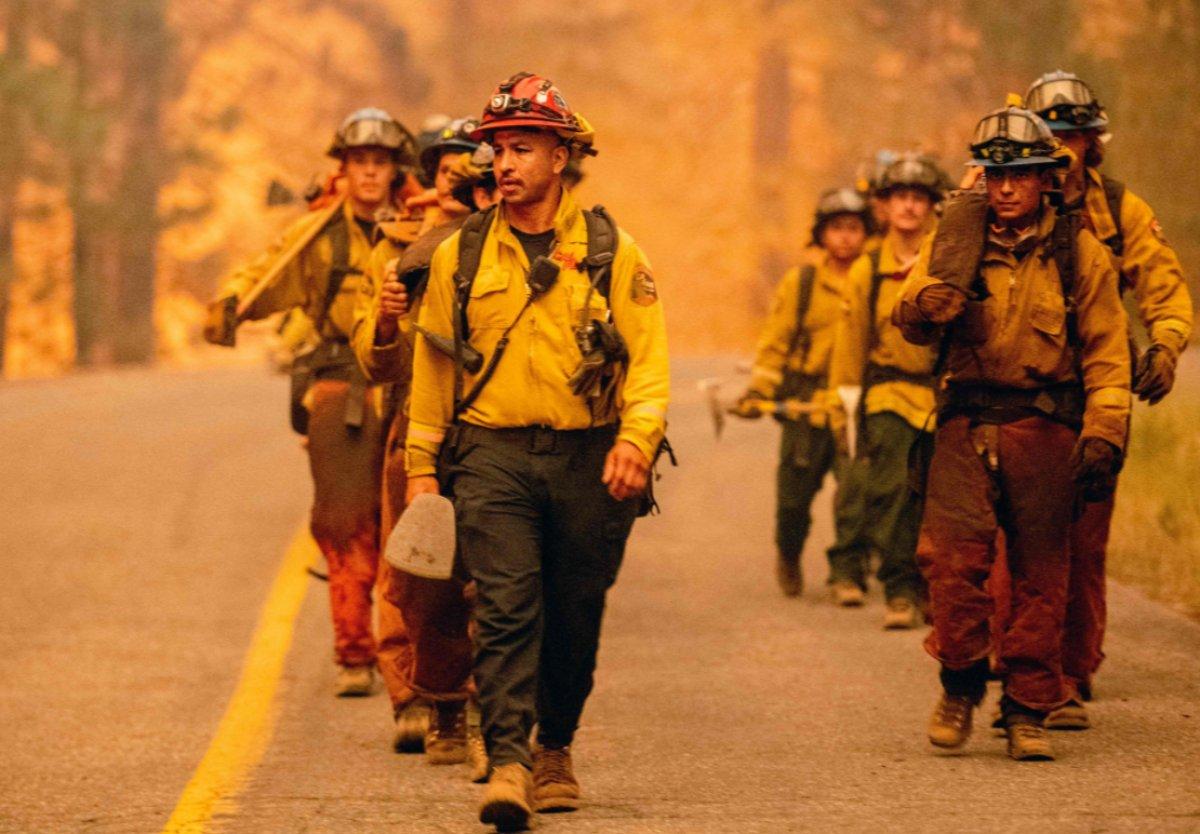 Kaliforniya da orman yangınıyla mücadele #1
