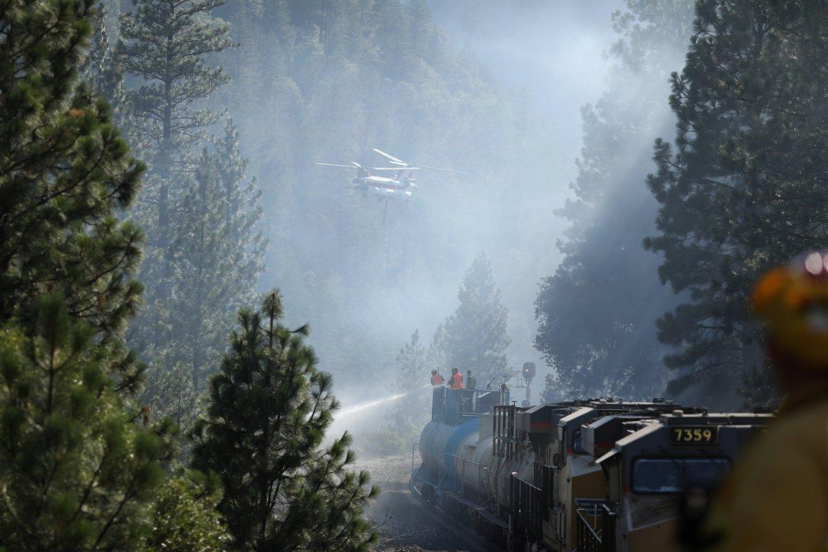 Kaliforniya da orman yangınıyla mücadele #13