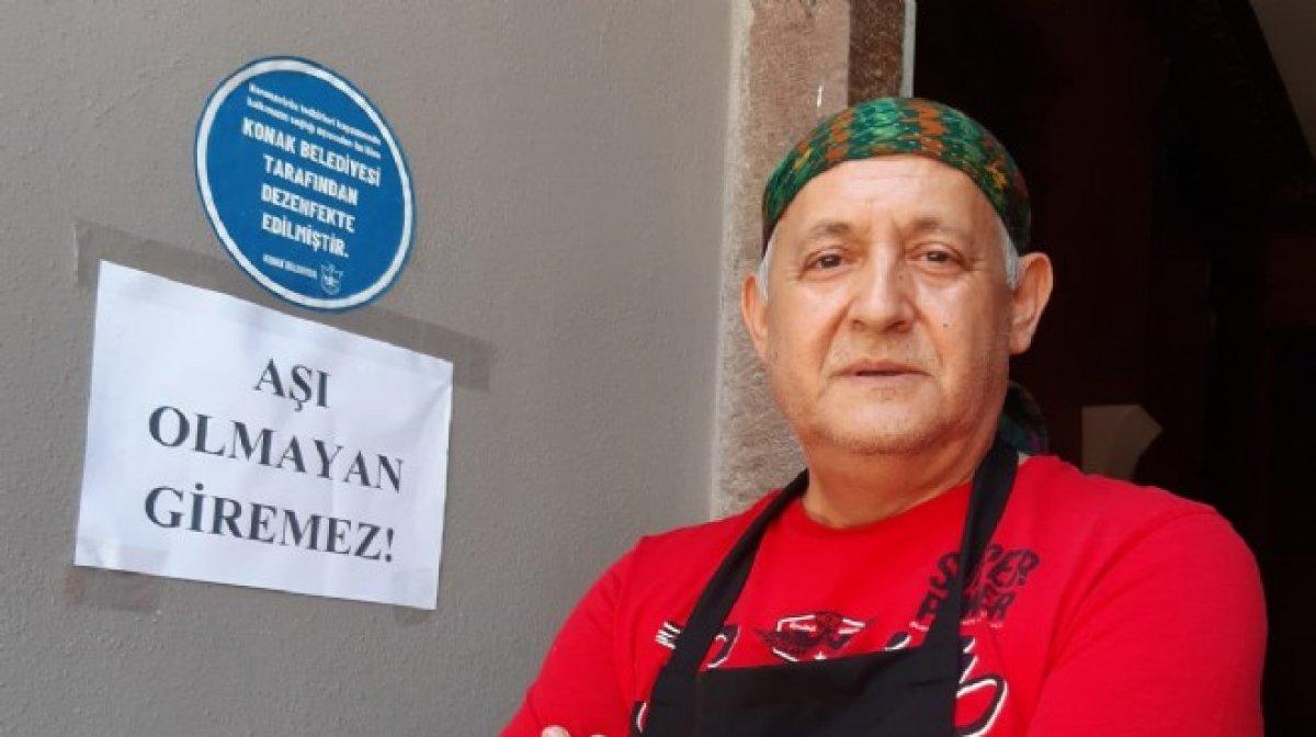 İzmir de esnaftan müşterilerine aşı şartı #2