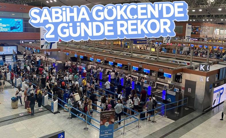 Sabiha Gökçen Havalimanı tatil dönüşü rekor kırdı