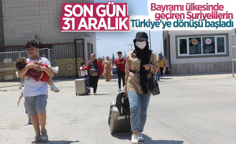 Suriyelilerin bayram sonrası Türkiye dönüşleri başladı
