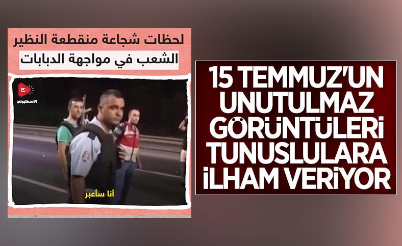 Tunus'ta, Türkiye'nin 15 Temmuz direnişi örnek gösteriliyor